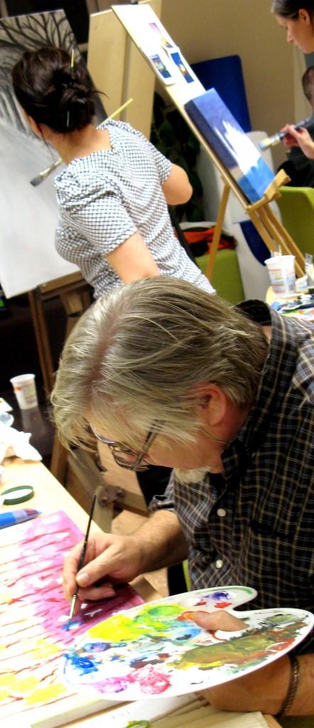 Art tutors at The Independent Art School